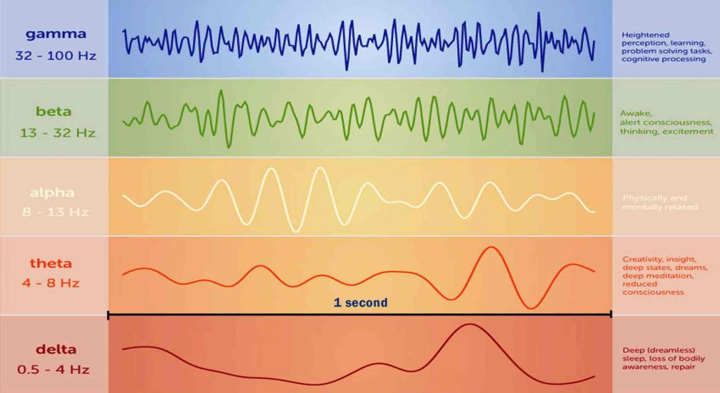 different types of Brainwaves frequencies